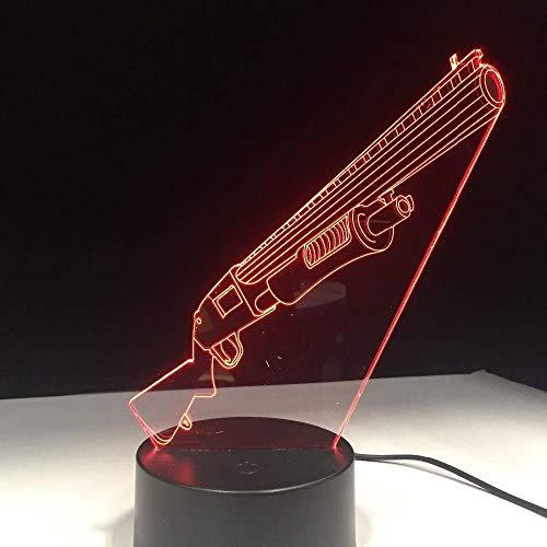 WLJBD Neuheit Lampe, Fernbedienung Gewehr-Gewehr-Farben-ändernde Lampen-Nachtlicht Holographic Schwebeeffekt Großes Geschenk jeden Spiel-Service