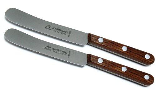 2 Stück Buckels Messer Bubinga Marsvogel Solingen # 82 46 01 Tafelmesser Solinger Dünnschliff blaugepließtet