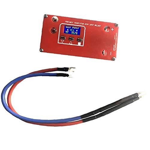 hong Wu Mini Spot Welder DIY-Schweißgerät ABS Red Tragbare 18650 Verschiedene Schweißstromquellen flexibel