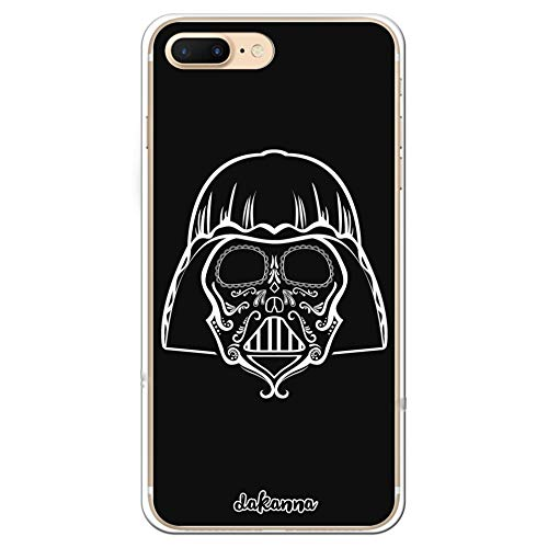 dakanna Funda para iPhone 7 Plus - 8 Plus | Calavera Cine | Carcasa de Gel Silicona Flexible Transparente
