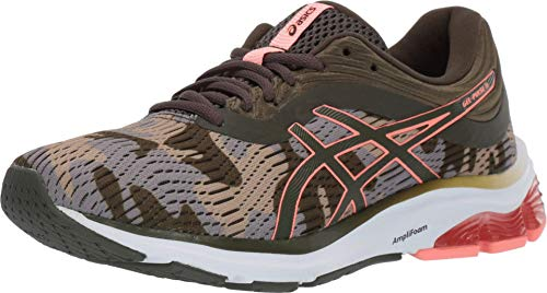 ASICS Women's Gel-Pulse 11 Running Shoes, 8.5M, Olive Canvas/Sun Coral