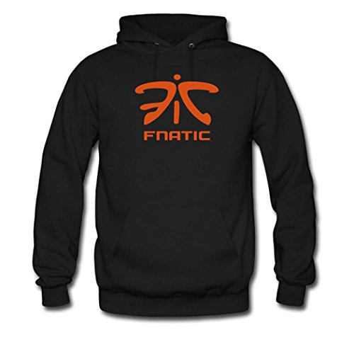 Hot Fnatic Logo for Boys/Girls Printed Sweatshirt Pullover Hoody Black