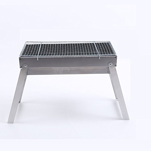 Best Buy! Moolo Grill Stoves BBQ Grill Outdoor Barbecue Charcoal Folding Stainless Steel Thick Gift ...