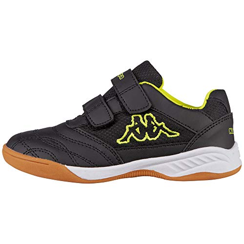 Kappa Kickoff, Zapatillas de Deporte Interior, Negro (Black/Yellow 1140), 30 EU