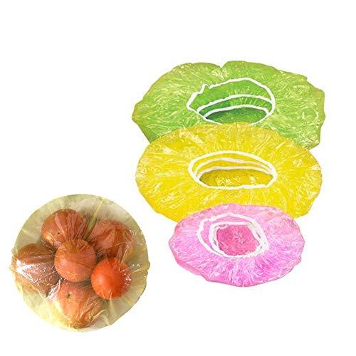 Kunststoff-Lebensmittelabdeckungen, 60 Stück, wiederverwendbar, transparent, BPA-frei, elastisch, bunt, für Schüsseln, Teller, Speisereste, Familie, Picknick, 3 Größen