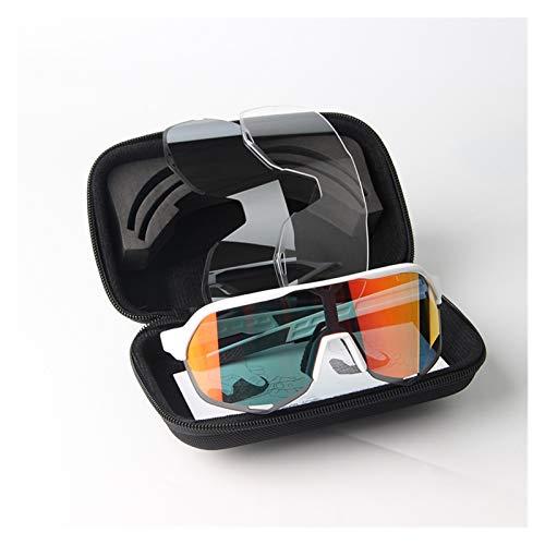 Gafas de ciclismo Gafas de ciclismo al aire libre Dust E viento Running Pesca Deporte Evitación UV Gafas de sol para hombre Bicicleta de montaña 100 S5 Sistema de gafas de color multicolor gafas de ci