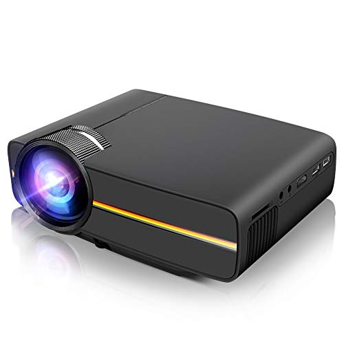Mini Projector,LoongSon Portable Video Projector Full HD 1080P Supported for Home Theater Movie Projector with 30,000 Hours LED, Compatible with TV Stick, HDMI, VGA,  USB, SD,AV,PS4,Laptop,Smartphone