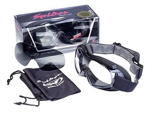 Global Vision Eyewear antibuée Spider kit de Lunettes de sécurité, fumée/lentille Transparente