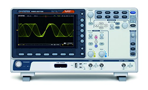 GW En su lugar MSO-2072E Osciloscopio de señal mixta, 2+16 CH, 70 MHz