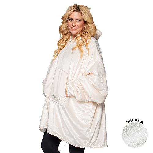 THE COMFY Das Bequeme Original | Übergroße tragbare Decke aus Mikrofaser und Sherpa, One Size Adult