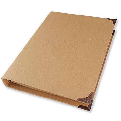 Carpeta de 4 anillas de papel kraft A4 con protector de esquina de ...