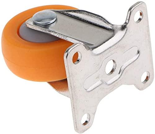 Ruedas resistentes con placa superior de nailon con ruedas fijas para muebles, 1 pulgada, duradero (tamaño: 25 mm)