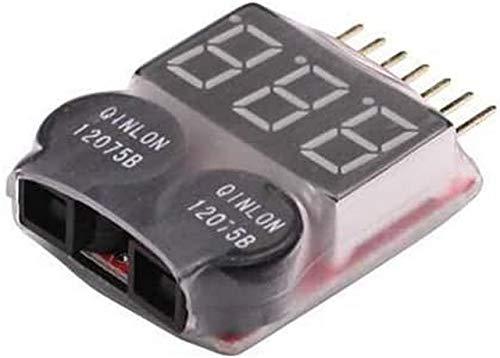 YUNIQUE FRANCE- 1 Piece 1S-8S Lipo Batterie Tension Faible Voltmetre Tester Monitor Buzzer Alarme Indicateur, 6R-DAB7-4ZMN