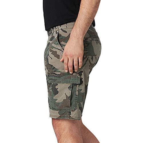 Semoatuc Pantalones cortos para hombre, estilo cargo vintage, pantalones cortos para hombre, pantalones de verano, pantalones de deporte, pantalones de deporte, pantalones de tenis verde XXXL