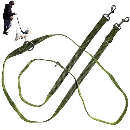 [DOGGIT] 犬用 ハンズフリーリード 長さ3.0m 幅2.5cm 多機能 ショルダー リード ロングリード 訓練用 おしゃれ 小型犬 中型犬
