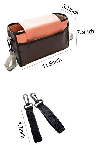 iSuperb Borsa Passeggino Organizer Passeggino Leggero Organizzatore Passeggino Grande Stroller Organizer 30×19×13cm (Bianco)