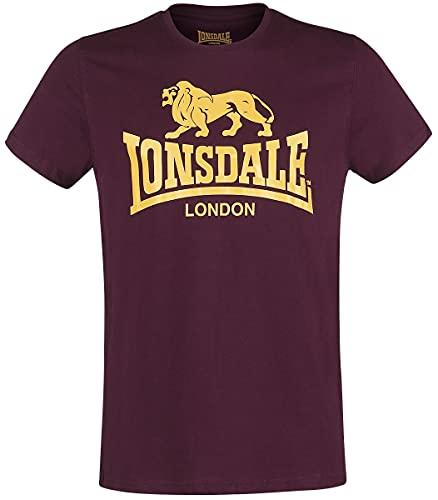 Lonsdale Camiseta Manga Corta Logo Burdeos XXXL (UK XXL)