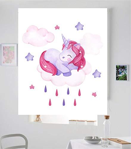 Desconocido Estor Enrollable Infantil Basic Unicornio niña ¡ESTORES Infantiles ENROLLABLES TRANSLUCIDOS! (120X175)