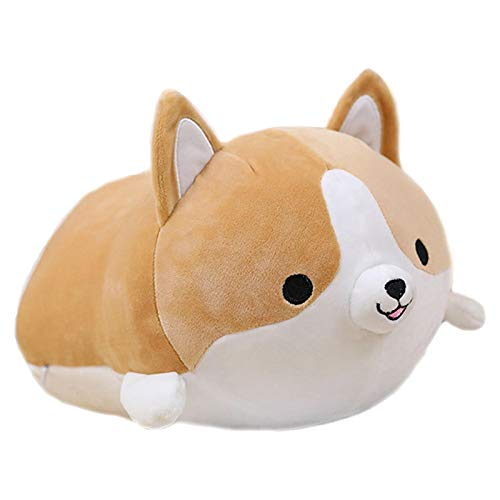 greatdaily Corgi Plush Pillow, Plush Animal Hugging Pillow, Soft Stuffed Toy Plushie, Cute Dog Toddler Toy, Soft And Comfortable Corgi Butt Pillow Accompany You For Nap Brown/yellow/gray 35cm