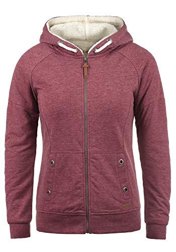 DESIRES Mandy Pile Damen Sweatshirt Pullover Pulli Mit Teddy-Futter, Größe:M, Farbe:Wine Re P (P8985)
