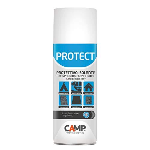 Camp PROTECT Spray, Protettivo isolante trasparente, plastificante, anti-ossidante e impermeabilizzante, Per plastica, legno, ceramica e metalli