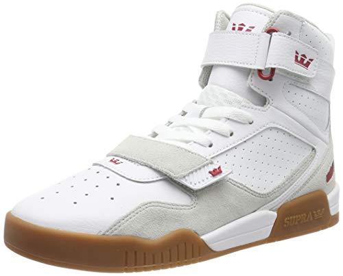 Supra Men's Skateboarding Shoes, White White Rose Gum M 173, Women 2