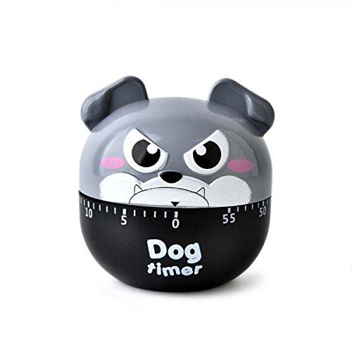 Küchen Eieruhr, 60 Minuten Hund mechanische rotierende Kochen Timer (grau)