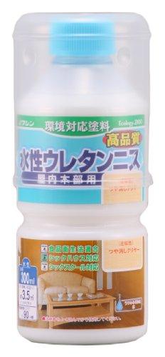 和信ペイント 水性ウレタンニス 屋内木部用 高品質・高耐久・食品衛生法適合 つや消しクリヤー 300ml