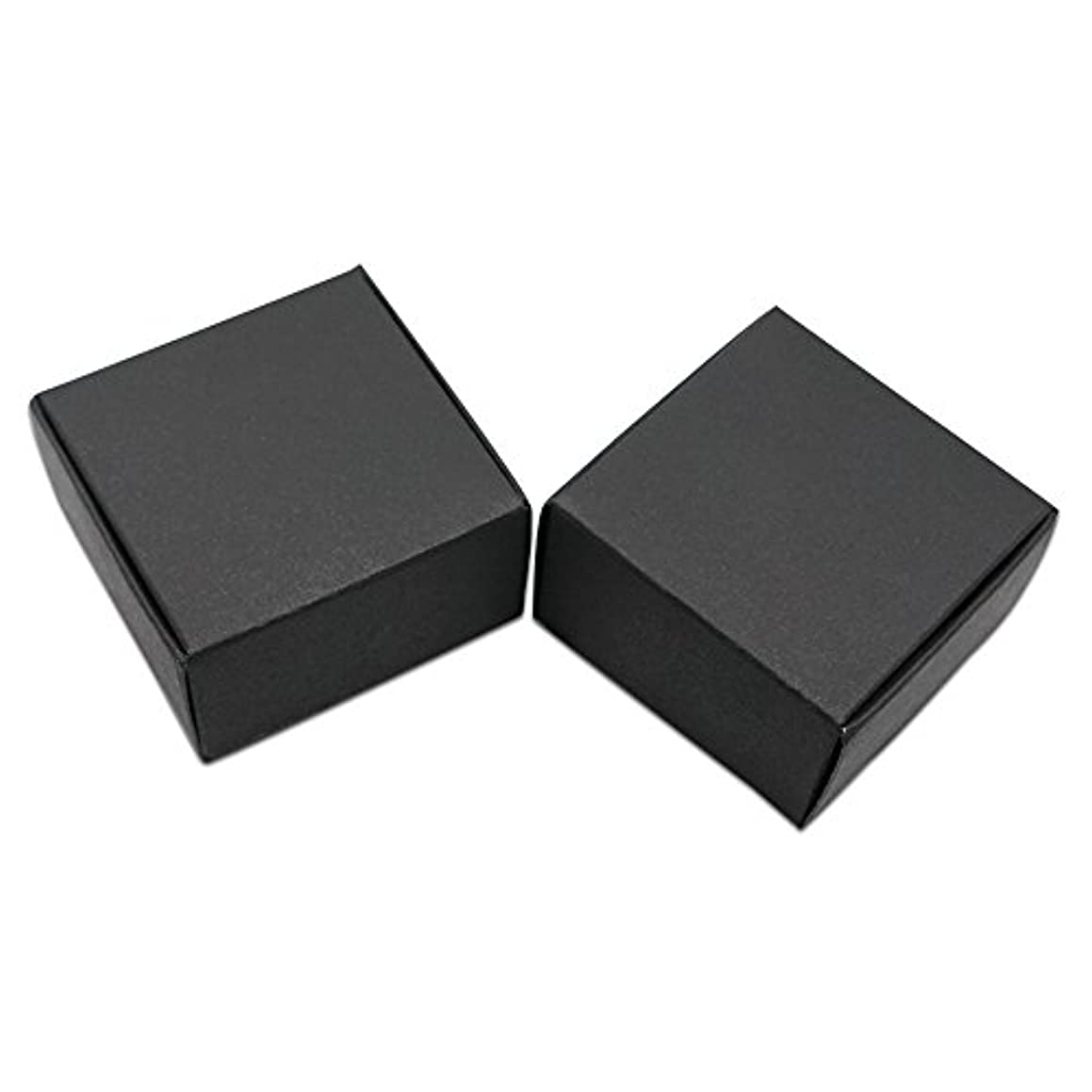 20 Pcs Small Cardboard Square/Rectangle Treat Boxes Kraft Paper Gift Favor Storage Packaging Soap Jewellery Earring Packing Paperboard Box Candy Chocolate Food Storage Pack (1.57