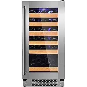 hanzeni Réfrigérateur À Vin - Réfrigérateur À Vin À Compresseur sans Givre Intégré Ou Autonome De 30 Bouteilles pour Vins Blancs Et Rouges, Économie D'énergie Et Protection De l'environnement