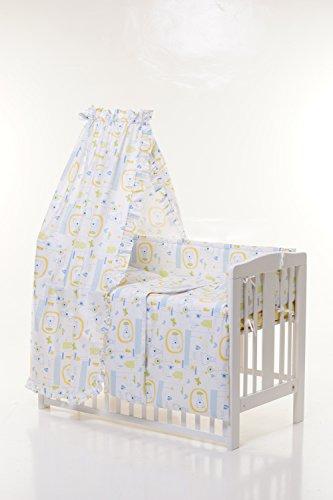Bettwäsche Set 100x 135(blau Jacadi, Kissenbezüge 40x 60, Bettunterlagen 100x 150, Bettbezug 100x 135)
