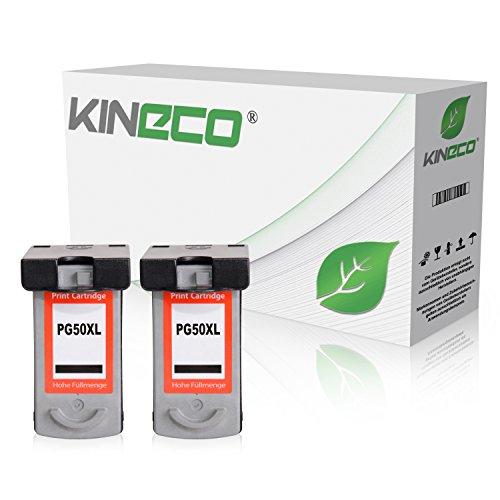 2 Kineco Tintenpatronen kompatibel zu Canon PG-50 Pixma MP150 MP160 MP170 MP180 MP450 MP460 MX300 MX310