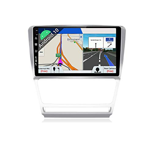 JOYX Android 10 Autoradio para Skoda Octavia (2007-2009) Navegacion - [2G+32G] - Gratis Cámara Canbus - 10.1 Pulgada - 2 DIN -Apoyo Dab 4G WLAN Bluetooth Carplay Control Volante Google Android Auto