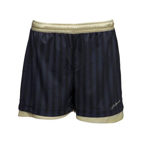 Ballzauber, Pantaloni Corti da Allenamento Donnas 1, Nero (Schwarz/Gold), XL