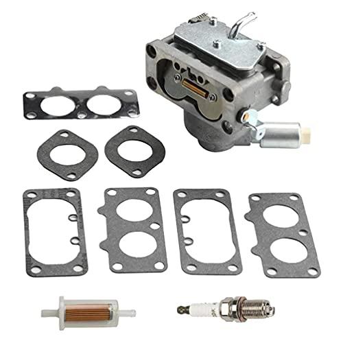 791230 Carburador para motor vertical V-Twin 4 ciclos 20-25HP LA120 LA130 LA135 LA140 LA145 LA150 Reemplazar # 699709 499804 MIA10632 con junta Bujía Filtro de combustible gasolina Cortasetos gasolina