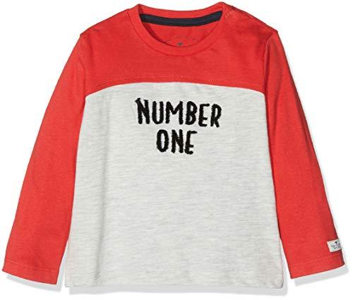 TOM TAILOR Kids T- 1/1 T-Shirt À Manches Longues, Rouge (Flame Scarlet|Red 2550), 95 (Taille Fabricant: 80) Bébé garçon