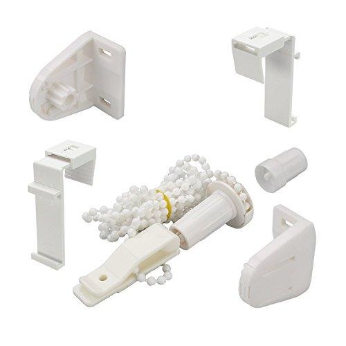 Garduna Zubehör-Set für Fix/Smartfix-Rollos UND Doppelrollos | Klemmträger, Kettenzug, Halterungen | 1 Set