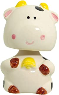 Japanese Bobble Head Collection Nodding Head Spring Action Figurines Car Dashboard, Cow