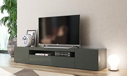 elbectrade Mobile Porta TV Grigio Antracite Mojito. Dimensioni in cm (L-A-P): 200-36,2-40