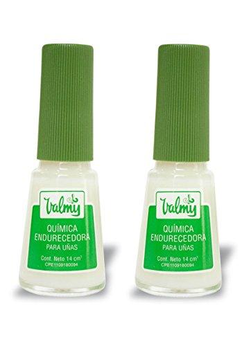 Endurecedor de uñas Valmy Química Endurecedora - Tratamiento fortalecedor y protector para uñas extra fuertes - Pack of 2-14 ml c/u