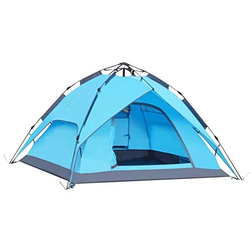 Goushi Carpa Hidráulica De Un Toque, Resistente Al Agua, Anti-UV, Fácil Instalación con Plegable, Transpirable para 3-4 Personas, Familia, Senderismo, Camping (Color : C)