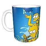 yushan Tazza Tazza in Ceramica Simpsons, Tazza da Latte, Tazza da caffè Multifunzione con Manico, Tazza da Acqua alla Moda per Uomo e Donna