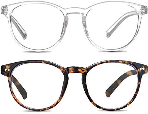 Pack de 2 Gafas Luz Azul   Visión Anti-Reflejos   Mantén el Patrón de Sueño y Evita el Cansancio Ocular para Videojuegos, Pantallas de Ordenador o Leer   Unisex   Úsalo Con Dispositivos Digitales