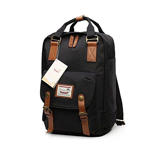LIYULI Damen outdoor Rucksack Mode Schulrucksack für Mädchen Backpack Rucksack schulrucksack rucksäcke mit Laptopfach für Camping Outdoor Sport (Schwarz)