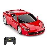 RASTAR Ferrari Remote Control Car, 1/24 Scale Ferrari 458 Italia Model Car, Red...