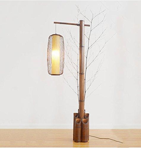 Stehlampe MEILING Chinesische Stil Vertikale Tischlampe Sofa Licht Retro Zen Stehleuchte Wohnzimmer Schlafzimmer Klassische japanische Stil Fischerei Lampe (Farbe : Holz)