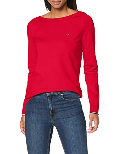 Tommy Hilfiger Damen New Ivy Boat-nk SWTR Ls Pullover, Rosa (Ruby Jewel), XX-Large