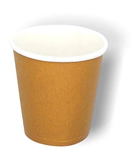 Mega Pack - 1600 Bicchierini in Carta da caffè 75ml Riciclabile Monouso Biodegradabile Compostabile Premium Quality Espresso Macchiato Eco Compatibili (Avana, 1600)