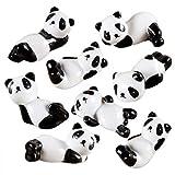 Nuobesty - 8 piezas de palillos de cerámica de panda para estar, estante para el resto, cuchara, tenedor, vajilla, soporte