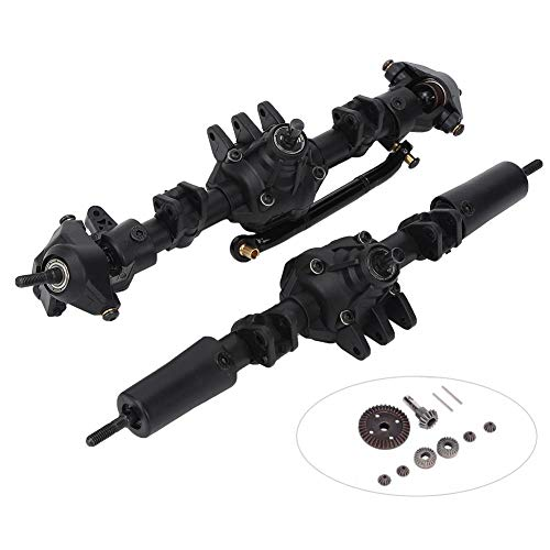 T best RC car axles, RC car Front axle Rear axle Upgrade Part Suitable for SCX10 II 90046 90047 1/10 RC car(Differential Front axle Rear axle)